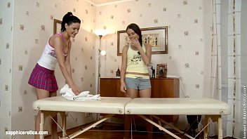 Sexual Massage by Sapphic Erotica - sensual lesbian sex scene with Yannie and Du 22 min