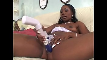 Lesbian girls fuck each other's pussy with dildos and strap ons on the sofa