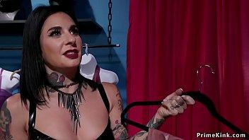 In fetish boutique mistress fucks guy porno izle