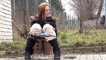 Redhead Gives Stranger A Public Piss Show