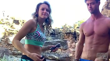 Hot horny couple have quickie outdoors