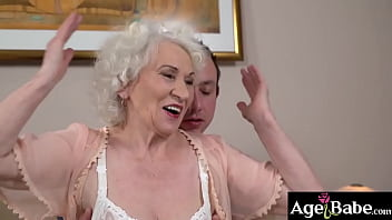 Granny Norma knows that young stud Rob can satisfy her sexual needs