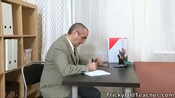 Tricky Old Teacher - Martina doesn't really know her tricky old teacher too well thumbnail