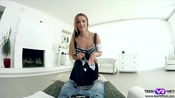 Sexy maid Alexis Crystal hardcore VR fuck