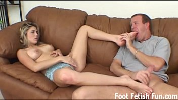 I want to give you a nice sloppy footjob