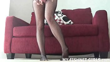 I feel so sexy in tight fishnet stockings JOI