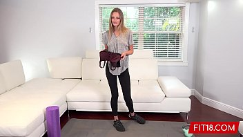 FIT18 - Kyler Quinn - Casting and Creampie A Skinny Supermodel Like Beauty