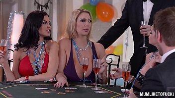 Milfs Cathy Heaven & Leigh Darby & Jasmine Jae Cum During New Year's Orgy 40 min