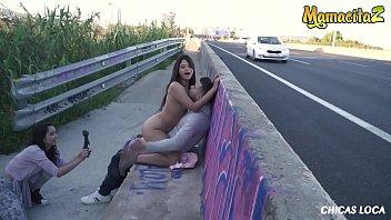 CHICS LOCA  #Nikol #Alberto Blanco  Sexy Latina Teen Bangs With Boyfriend Near The Highway  THIS IS INSANE!