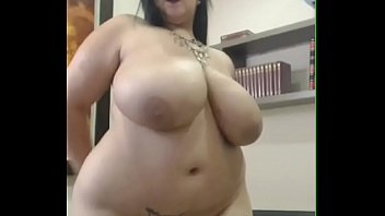 Latina BBW with huge tits on cam