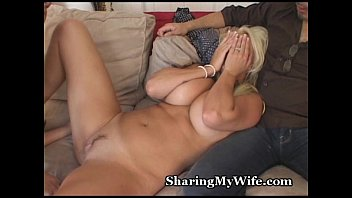 Hot wife gives awesome blowjob Wifes awesome rack shared with friend