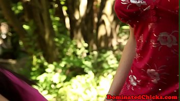 Restrained eurobabes banged outdoors