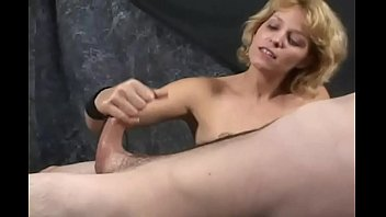 Penis milking technique Masturbation therapy - penis milking specialist at work