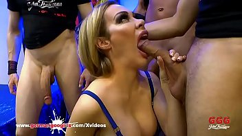 Pornstar gangbangs - Milf chessie kay gets her mouth full of cocks - german goo girls