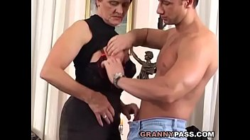 Mom sex Busty mom with hairy pussy fucks young cock