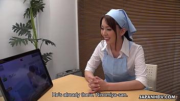 Japanese maid, Yui Hatano is sucking cock, uncensored thumbnail