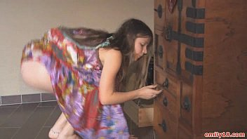 Naked hippie color - Hippie dress on stripping teen