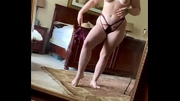 Sexy Lingerie Strip Tease Before Work