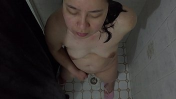 Horny mature homemade porn - Asian milf - showering pussy playing