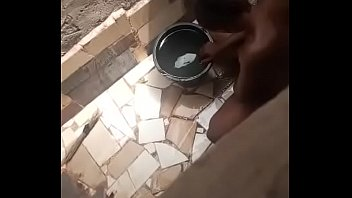 Hausa girl taking her bath (hidden camera)