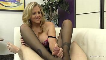 Julia Ann Uses Her Feet N' Legs To Milk Her Boy Toy! Wow!