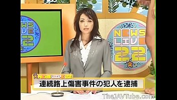 Japanese News Anchor Maki Hojo Gets Many Cumshots And Fucked Live On The News