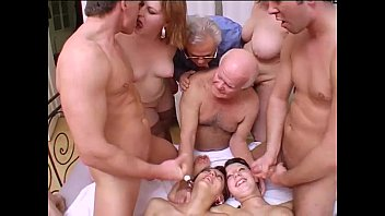 Crazy orgy with grandpa in a dirty and perverse family!