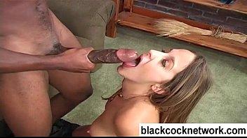 Mandingo interracial blowjob 5 min