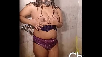 sexy indian girl taking shower and doing cam show