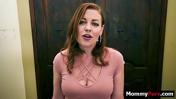 Son gets a blowjob from gold digger mom 8 min