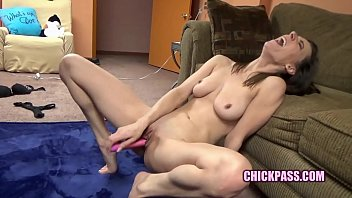 ChickPass - Horny housewife Alora Jaymes makes herself cum 3 min