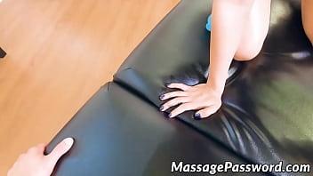 Sensual babe Maya Bijou fucked doggystyle after hot massage
