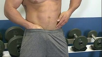 Gay man at the gym - Hunter manning: sexy hot hunk cum and huge orgasm