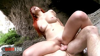 Hot foursome with Gina Snake and  Lili Lou in a cave