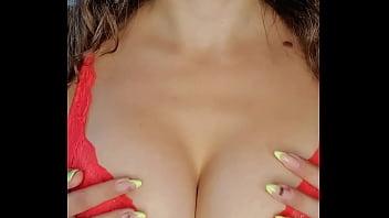 Girl in Lingerie Oiled Massage Big Boobs - Homemade