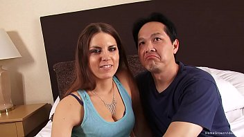 Real amateur couple showing off in their first video