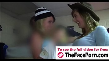 Free young busty teen clips College babes kiss each other and fucked by handsome classmates - www.thefaceporn.com