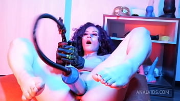 Naughty Girl Fucks Herself With Unrealistic Huge Sex Toys In The Ass Using Slime - Pump SBS012 porno izle