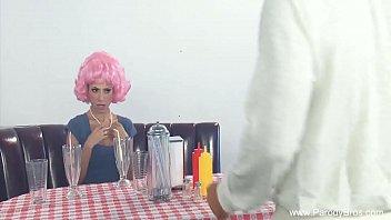 Cosplay Pink Haired Latina Teen