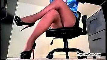 Amateur secretary upskirt at TryLiveCam.com