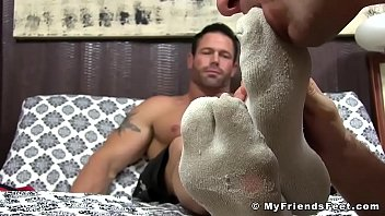 Gay man foot - Stunning hunk daddy joey feet licked by his man whore