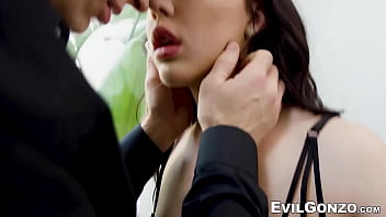 Babe with pretty little pussy gets her butt and puss drilled