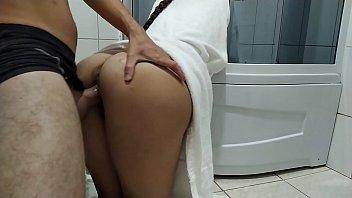 My stepsister got stuck in the shower