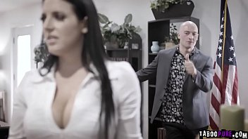 Erotic politician - Busty politician angela white was blackmailed and fucked by this horny businessman zac wild.