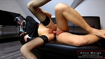 Amateur Anal Fucking With Hot Nun! Sperm Flows From Hole! AliceMargo.com