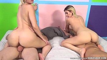 Hard foursome with Bibi Noel and Jenna Ivory
