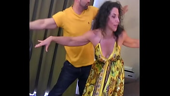 Yoga pro Simone gets fucked all over the place