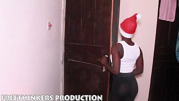 Naughty Santa Fucks His Black Ass Ebony Girl Neighbour