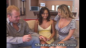 Dreamy Teen Joins Naughty Couple
