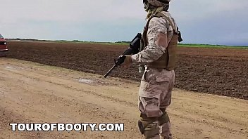 Army of ass tube porn - Tour of booty - american soldiers in the middle east negotiate sex using goat as payment
